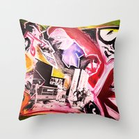 madonna Throw Pillows featuring La Madonna by Davide Spinelli