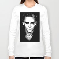 tom hiddleston Long Sleeve T-shirts featuring Loki (Tom Hiddleston) by Olive in Pinkland