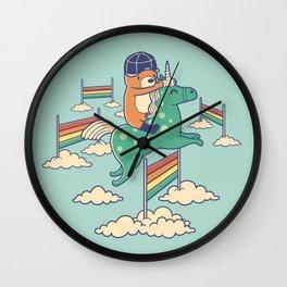 Over The Rainbow Wall Clock