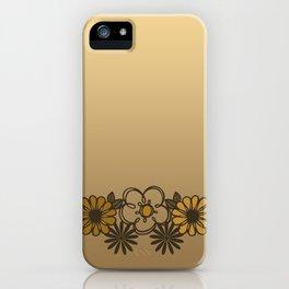 Kitschy Flower Medley Sepia iPhone Case