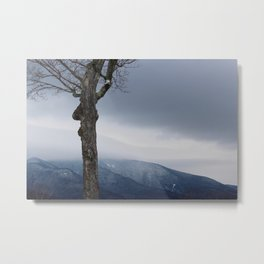 Winter Mountain Fog Metal Print