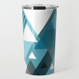 digital triangles Travel Mug