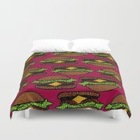 hamburger Duvet Covers featuring Hamburger by nsvtwork