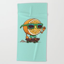 The Orange Skater Beach Towel