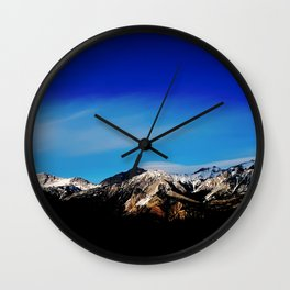 Breaking Dawn in the Canadian Rockies Wall Clock