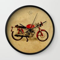 ducati Wall Clocks featuring Ducati Sport 1954 by Larsson Stevensem