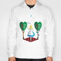 alice wonderland Hoodies featuring Wonderland by AmadeuxArt