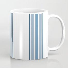 Farmhouse Blue Ticking Stripes on White Coffee Mug