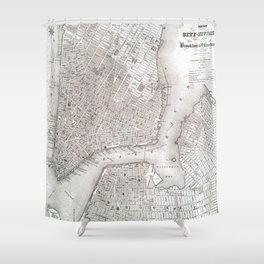 Vintage New York City Map Shower Curtain