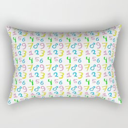 number 1- count,math,arithmetic,calculation,digit,numerical,child,school Rectangular Pillow