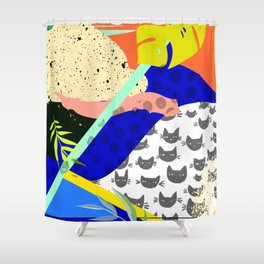 Tropical Chaos Shower Curtain