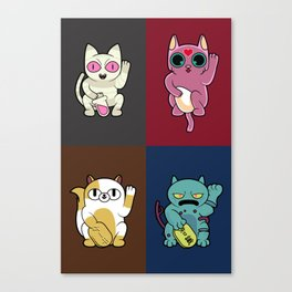 Adventure Time Lucky Cats Canvas Print