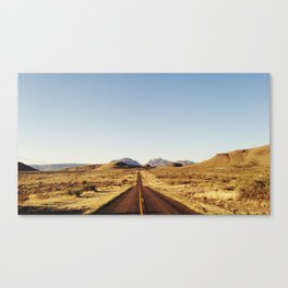 Golden Rolling Hills Road Canvas Print