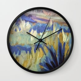 Dreamy Abstract Flowers Painting Wall Clock