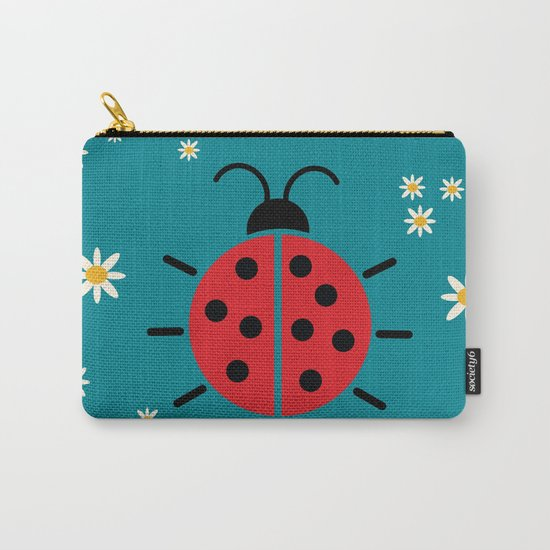 ladybug flowers Carry-All Pouch