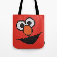 knit Tote Bags featuring Knit Elmo by colli1.3designs
