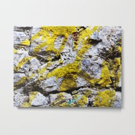 Amazing Rockwall with Paint Metal Print