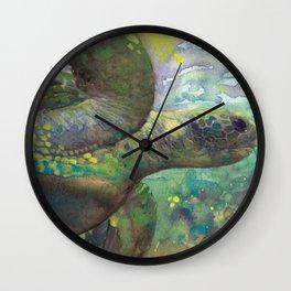 "Giant Sea Turtle Under Water Ocean Aquatic ""The Color Of Magic"" Wall Clock"