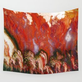 Christmas Tree Plume Agate Wall Tapestry
