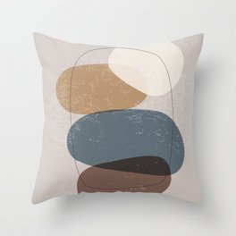 Abstract Stones in Terracotta No. 3 Throw Pillow