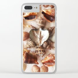 Wing Oyster Heart Clear iPhone Case