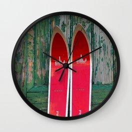 Vintage Skis - Fischer Alu Wall Clock