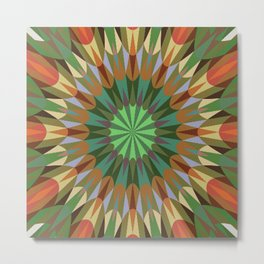 Earthy Retro Geometry #2 Metal Print