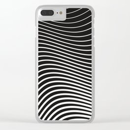 Black and White Curves Clear iPhone Case