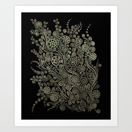 Gold on black Art Print