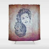 lana Shower Curtains featuring Lana by Rabassa