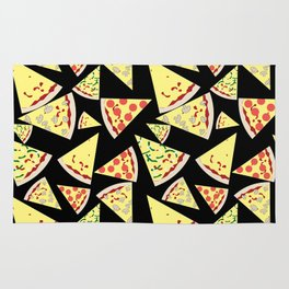 Fun Dynamic Random Pattern Pizza Lover Rug