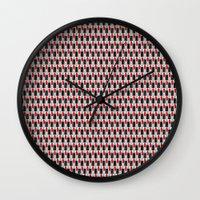 lipstick Wall Clocks featuring Lipstick by DavidsSociety6