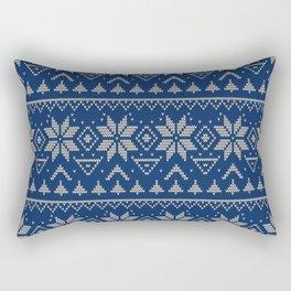 Knitted Scandinavian pattern 2 Rectangular Pillow