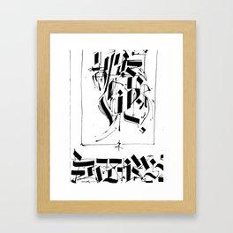 CALLIGRAPHY N°5 ZV Framed Art Print