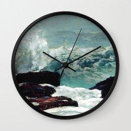 Maine Coast by Winslow'Homer' Wall Clock