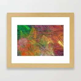 Digital Fingerpainting Framed Art Print