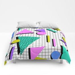 80s Retro Geometric Pattern 2 Comforters