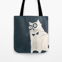White Fashionable Cat Tote Bag