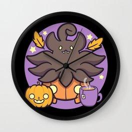 Autumn Pumpkaboo Wall Clock