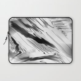 Modern Abstract - Black and White Laptop Sleeve