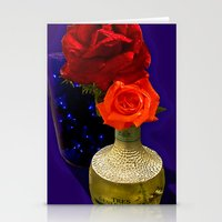 tequila Stationery Cards featuring Tequila Rose by TexasArt