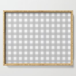 Buffalo Checks Plaid in Dove Gray and White Serving Tray
