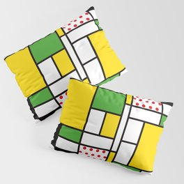 Mondrian - Bycicle Pillow Sham