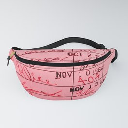 Library Card 23322 Pink Fanny Pack