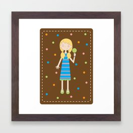 Lollipop girl Framed Art Print