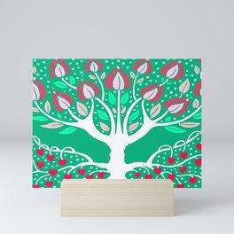 Love Grows Forever - Emerald Green Mini Art Print