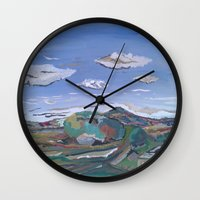 country Wall Clocks featuring Country by Thomas Madden