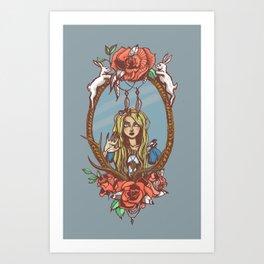 Trapped Alice Art Print