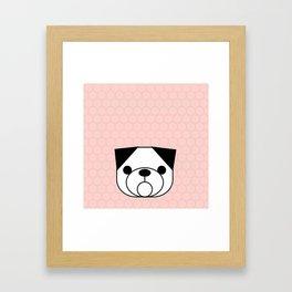 Pop Dog Pug Framed Art Print