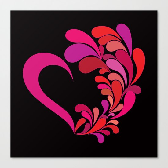 Colored heart Canvas Print